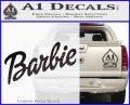 Barbie Decal Sticker Carbon FIber Black Vinyl 120x97