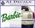 Barbie Decal Sticker Green Vinyl Logo 120x97