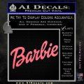 Barbie Decal Sticker Pink Emblem 120x120