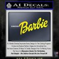 Barbie Decal Sticker Yellow Laptop 120x120