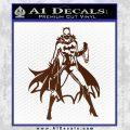Bat Girl Full Decal Sticker BROWN Vinyl 120x120