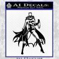 Bat Girl Full Decal Sticker Black Vinyl 120x120