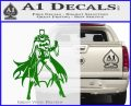 Bat Girl Full Decal Sticker Green Vinyl Logo 120x97