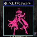 Bat Girl Full Decal Sticker Pink Hot Vinyl 120x120
