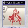 Bat Girl Full Decal Sticker Red 120x120