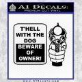 Beware Of Owner Decal Sticker Gun Black Vinyl 120x120