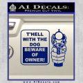 Beware Of Owner Decal Sticker Gun Blue Vinyl 120x120