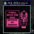 Beware Of Owner Decal Sticker Gun Pink Hot Vinyl 120x120
