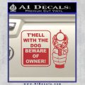 Beware Of Owner Decal Sticker Gun Red 120x120