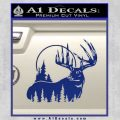 Buck Deer Decal Sticker Blue Vinyl 120x120
