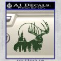Buck Deer Decal Sticker Dark Green Vinyl 120x120