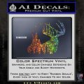 Buck Deer Decal Sticker Glitter Sparkle 120x120