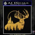 Buck Deer Decal Sticker Gold Vinyl 120x120