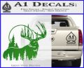 Buck Deer Decal Sticker Green Vinyl Logo 120x97