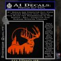 Buck Deer Decal Sticker Orange Emblem 120x120