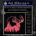 Buck Deer Decal Sticker Pink Emblem 120x120