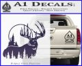 Buck Deer Decal Sticker PurpleEmblem Logo 120x97
