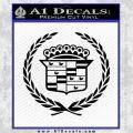 Cadillac Logo Ducks Decal Sticker Black Vinyl 120x120