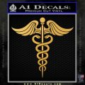 Caduceus Medical Symbol D4 Decal Sticker Gold Vinyl 120x120