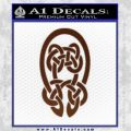 Celtic Knot Decal Sticker BROWN Vinyl 120x120