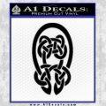 Celtic Knot Decal Sticker Black Vinyl 120x120