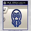 Celtic Knot Decal Sticker Blue Vinyl 120x120