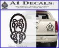 Celtic Knot Decal Sticker Carbon FIber Black Vinyl 120x97