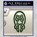 Celtic Knot Decal Sticker Dark Green Vinyl 120x120