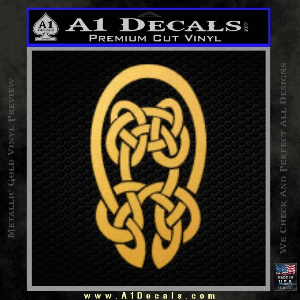 Celtic Knot Decal Sticker Gold Vinyl