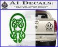 Celtic Knot Decal Sticker Green Vinyl Logo 120x97