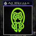 Celtic Knot Decal Sticker Lime Green Vinyl 120x120