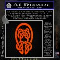 Celtic Knot Decal Sticker Orange Emblem 120x120