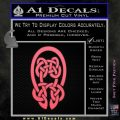 Celtic Knot Decal Sticker Pink Emblem 120x120