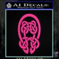 Celtic Knot Decal Sticker Pink Hot Vinyl 120x120