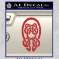 Celtic Knot Decal Sticker Red 120x120