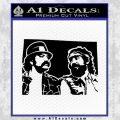 Cheech And Chong D2 Decal Sticker Black Vinyl 120x120