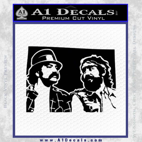 Cheech And Chong D2 Decal Sticker Black Vinyl