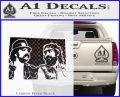 Cheech And Chong D2 Decal Sticker Carbon FIber Black Vinyl 120x97