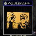 Cheech And Chong D2 Decal Sticker Gold Vinyl 120x120