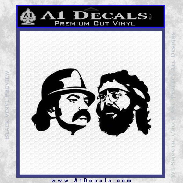 Cheech And Chong Decal Stickers Black Vinyl