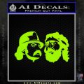 Cheech And Chong Decal Stickers Lime Green Vinyl 120x120