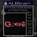 Coexist Firearms Decal Sticker Pink Emblem 120x120
