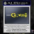 Coexist Firearms Decal Sticker Yellow Laptop 120x120