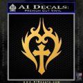 Cross Crucifix Decal Sticker Christian D8 Gold Vinyl 120x120