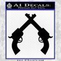 Crossed Pistols Decal Sticker Black Vinyl 120x120