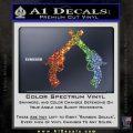 Crossed Pistols Decal Sticker Glitter Sparkle 120x120