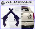 Crossed Pistols Decal Sticker PurpleEmblem Logo 120x97