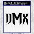 DMX Decal Sticker Black Vinyl 120x120