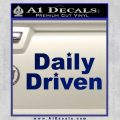 Daily Driven Decal Sticker Blue Vinyl 120x120