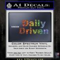 Daily Driven Decal Sticker Glitter Sparkle 120x120